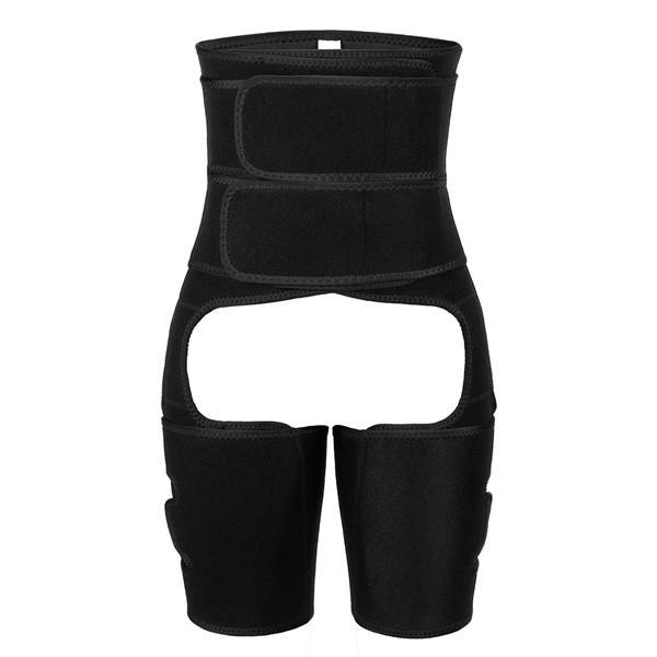 Double Belts Solid Color Thigh Shaper Loose Weight