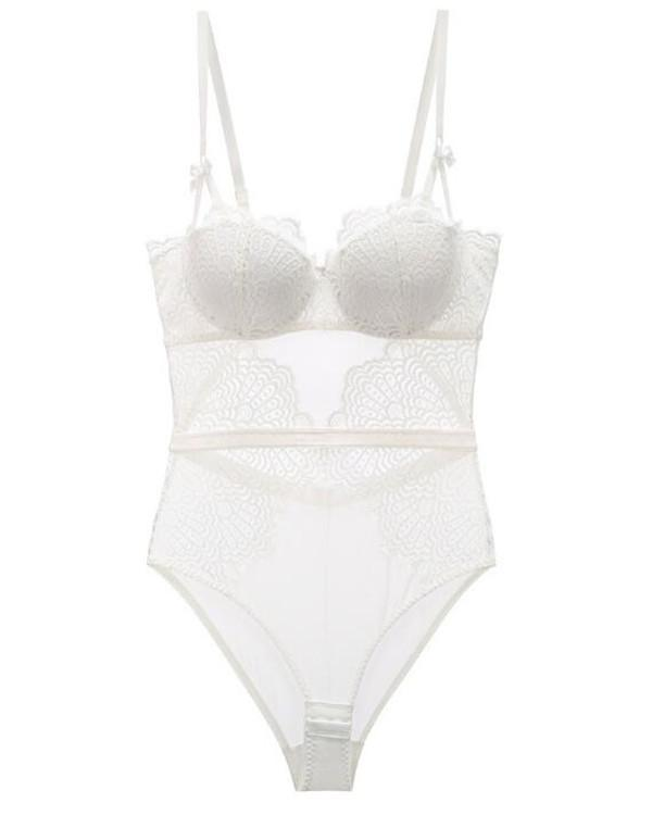 Sexy Women Lingerie Strappy Cup Push Up Cotton Crotch Shaper