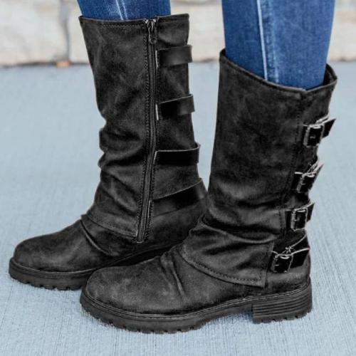 Party & Evening Low Heel Zipper Winter Boots