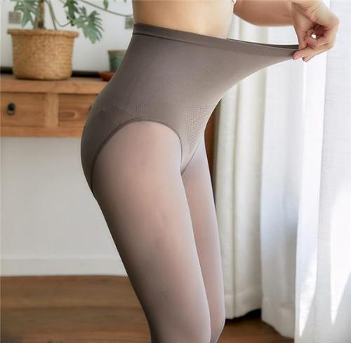 Women's Warm Winter Plus Velvet Leggings Solid High Waist Slim Leggings