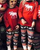 Elk Print Family Matching Christmas Pajamas for Children