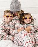 Kid's Stripe Print Parent-Child Family Christmas Loungewear
