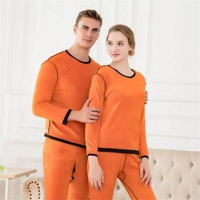 Warm Thick Seamless Couple Thermal Warm Underwear set
