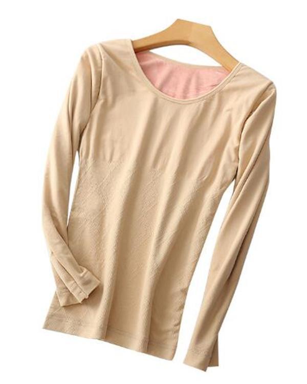 Slim Underwear  Winter Thermal Warm Long Sleeves Tops