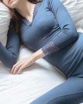 Warm Thermal Underwear Sexy Lace Thermal Shaping Set
