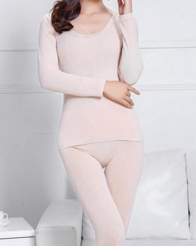Thermal Underwear set Women winter Slim winter clothing Warm suit