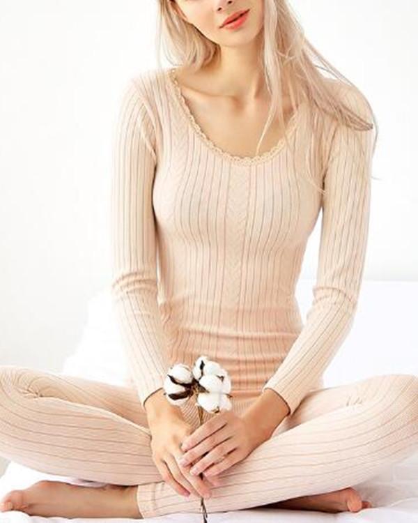 Winter Cotton Seamless Body Thermal Underwear