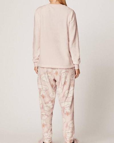 Long Sleeve Soft Unicorn Pajamas Suit