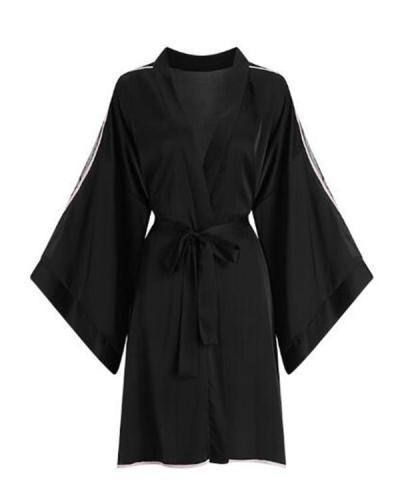 Women Sexy Silk  Robe pajamas Sleepwear