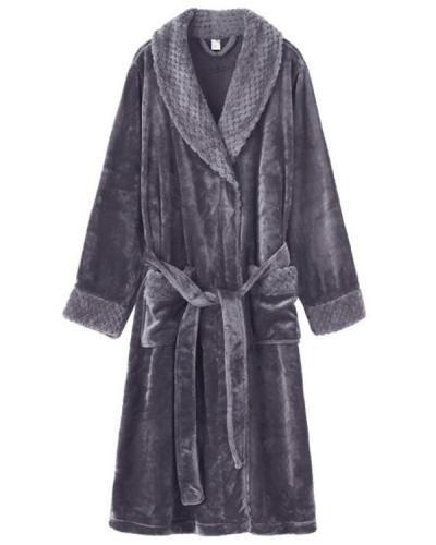 Women Men Thick Sleepwear Casual Pajamas Robes