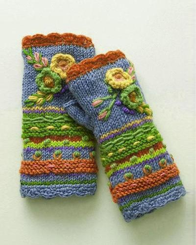 Casual Knitted Gloves Handwarmers