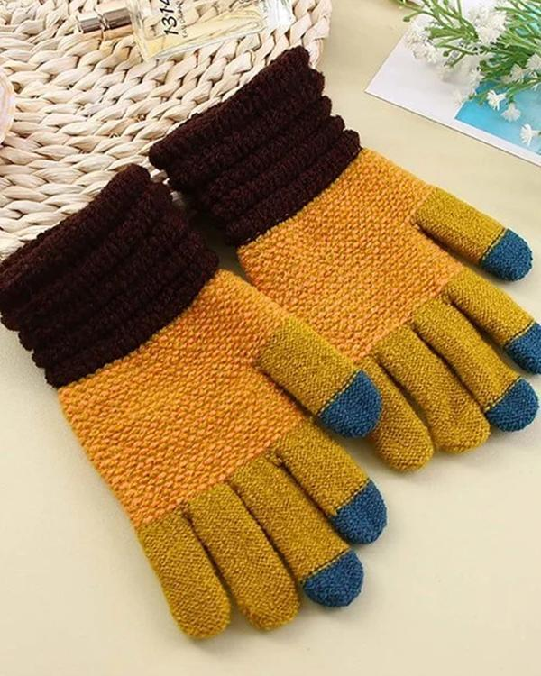 Mobile Phone Touch Screen Warmth Knitted Gloves