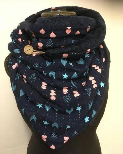 Women Fashion Printed Shawl Multi-purpose Neck Wrap Warm Scarf