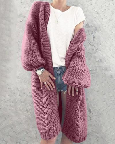 Women Knitted Cardigan Autumn Warm  Coats