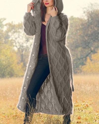 Autumn Fashion Women Long Sweater Cardigan Loose Coat