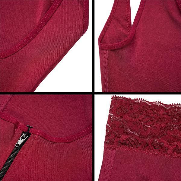 Red Full Bodysuit Shapewear