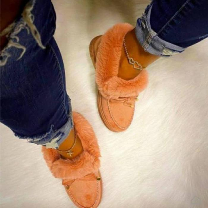 Winter Comfy Suede Casual Fashion Flat Snow Boots