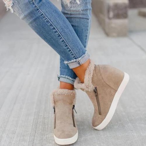 Warm Zipper Boots