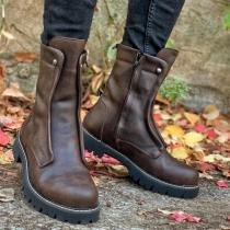 Side Zipper Martin boots