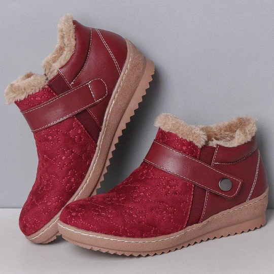 Women's Low Heel Winter Snow Boots With Warm Lining