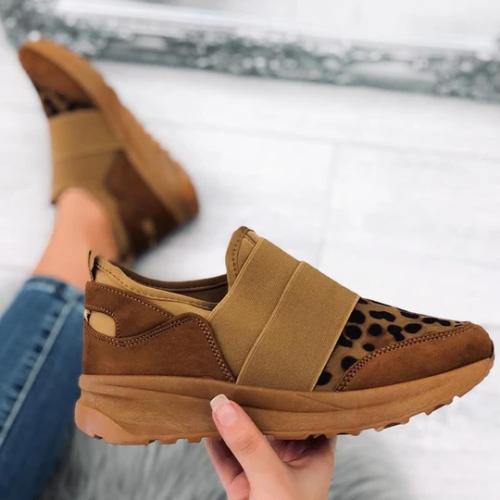 Women's Chic Leopard Flat Sneakers