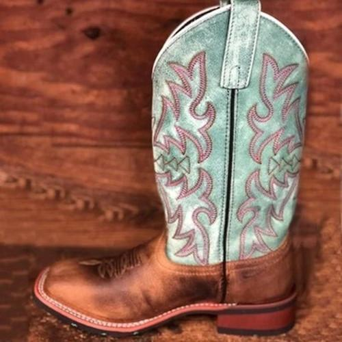 Block Heel Vintage Boots