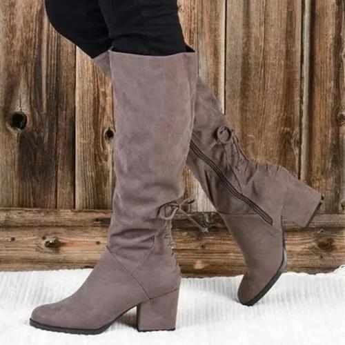 Block Heel Winter Holiday Boots
