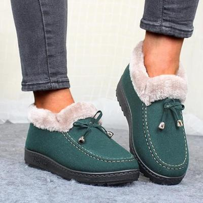 Women's Low Heel Warm Non-slip Cotton Shoes
