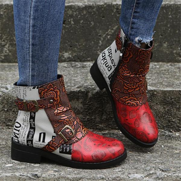 Daily Leather Winter Ankle Boots