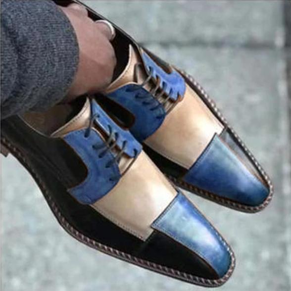 Men'S Leather Patchwork Dress Shoes