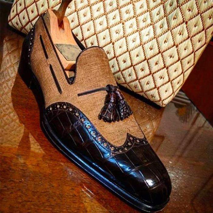 New Trend Brogue Tassel Loafers