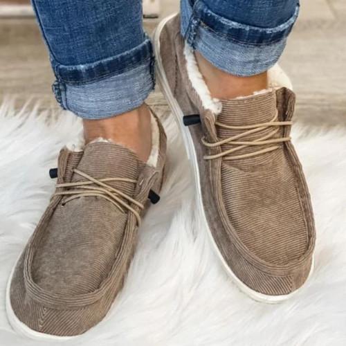 Fall Date Flat Heel Snow Boots