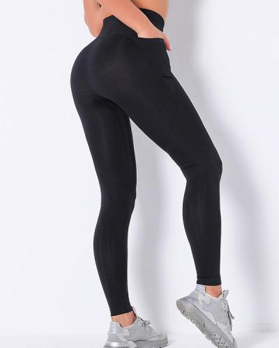 High Waist Stretch Slimming Butt Lift Leggings with Pockets