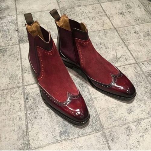 Handmade Men Fashion Genuine Leather Shoes