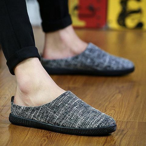 Men's Linen Plus Size Driving Slippers