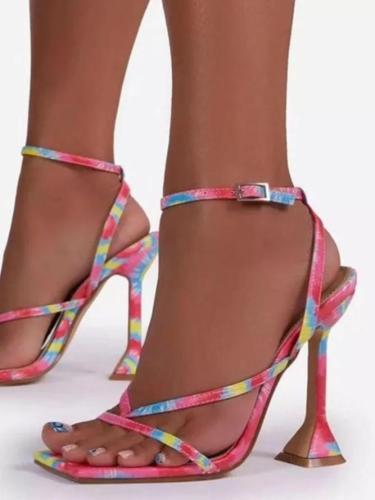 High Heel Pu Sandals