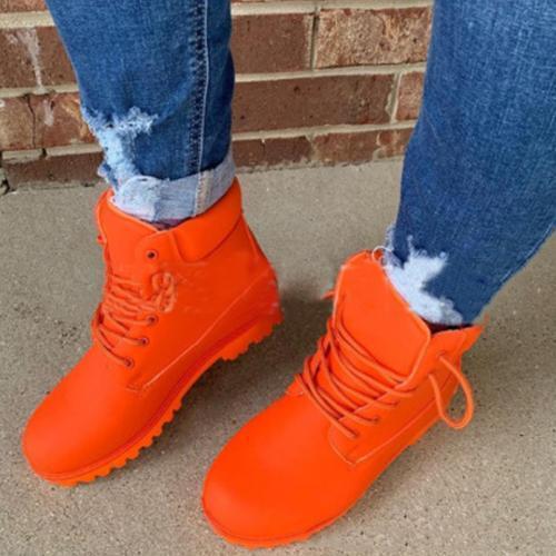 Waterproof Lacing Winter Boots