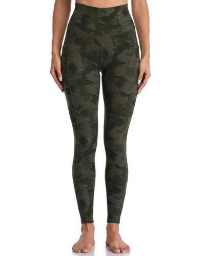 Camouflage Pocket Fitness Legging Yoga Pants