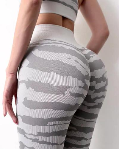 Fashion Stripe Fitness Legging Yoga Pants