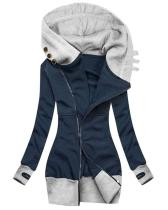 Women Casual  Retro  Hooded Coat