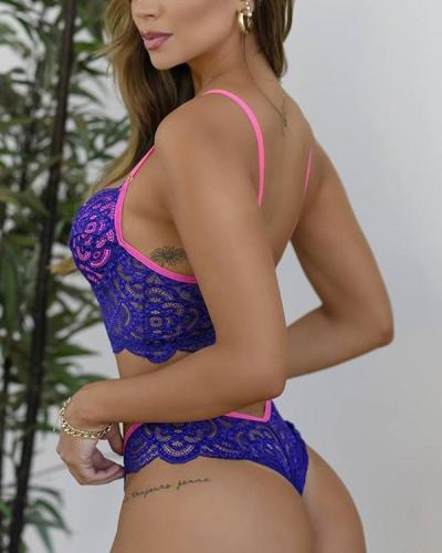 Women's Lace Bow Sexy Lingerie