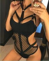 Bandage Sheer Fishnet Bodysuit