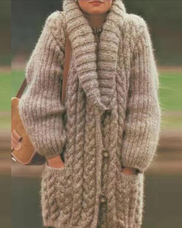 Cotton-Blend Long Sleeve Outerwear