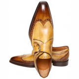 Handmade Two Tone Men Monk Shoes