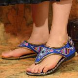 Summer Embroidery Flat Sandals