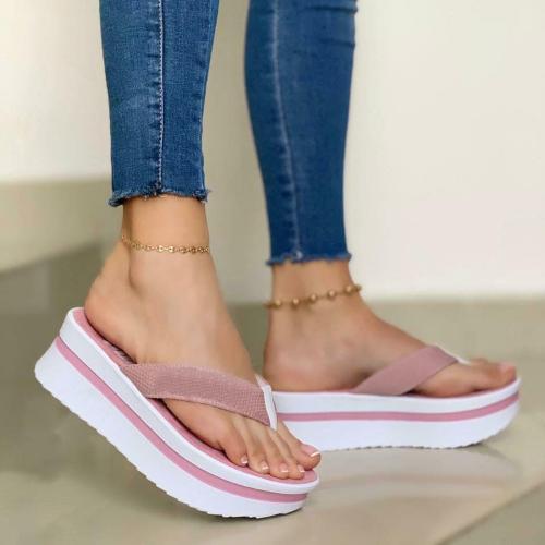**Women's Comfy Platform Casual Flip Flops