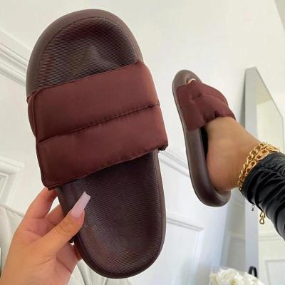 Women Casual Comfy Daily Pu Slip On Flat Slippers