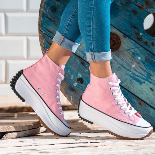 **Women's Fashion Canvas Platform Sneakers