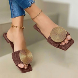 Disc Cloth Surface Flat Slippers