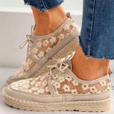 Women's Retro Mesh Flat Casual Shoes
